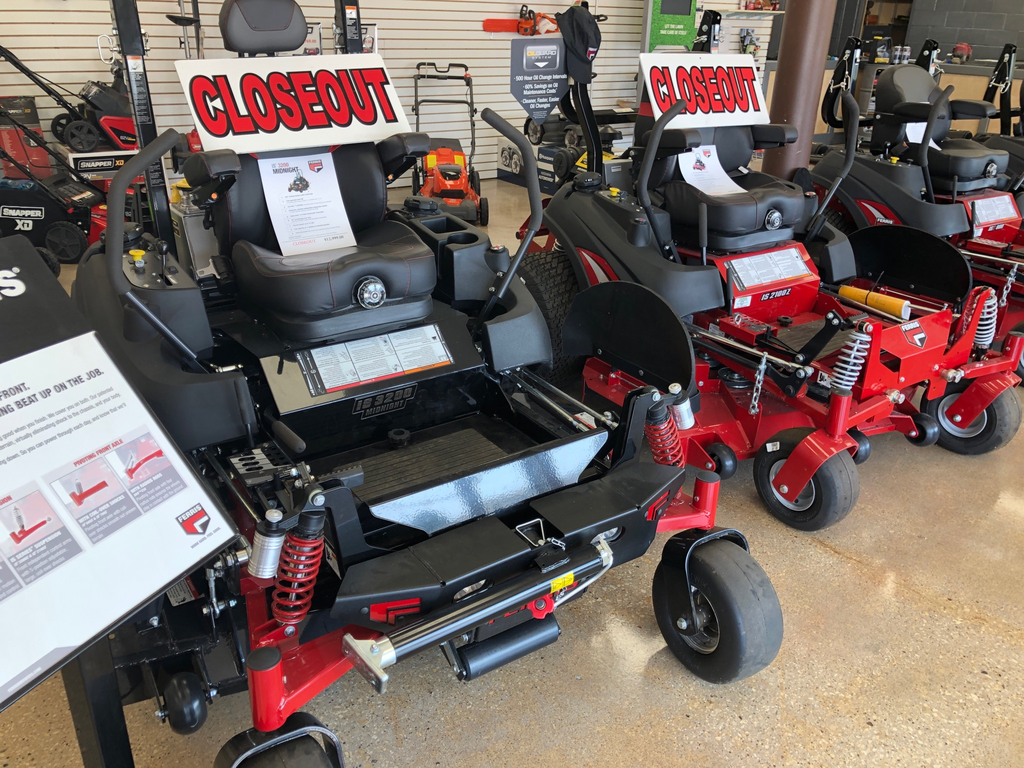 2 Ferris Zero turns at closseout prices for sale at Steve's Small Engine in La Crosse, WI
