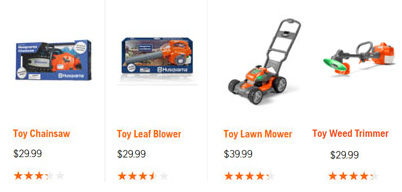 Husqvarna toys available at Steves Small Engine in La Crosse